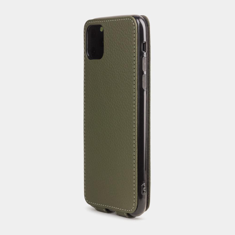 Чехол для iPhone 11 Pro из натуральной кожи теленка, зеленого цвета