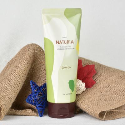 Отшелушивающий солевой скраб для тела с зеленым чаем Evas Naturia Creamy Oil Salt Scrub Green Tea