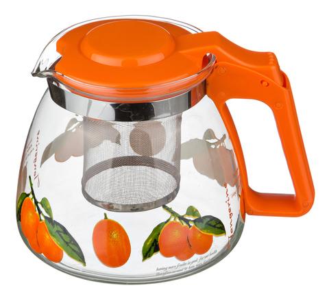 Чайник заварочный Agness 900мл с фильтром,стекло арт.885-007