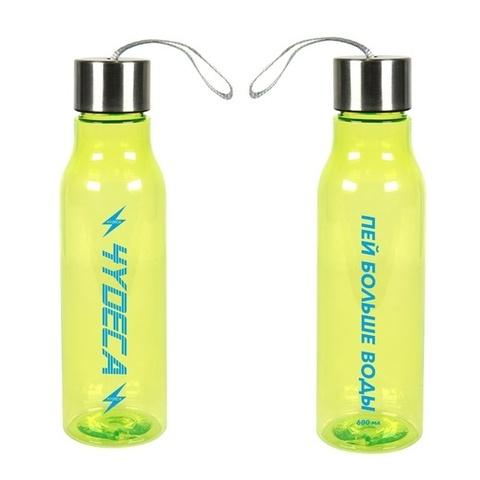 Бутылка для воды Чудеса Прозрачно-Зелёная