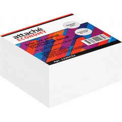 Блок для записей Attache Economy проклеенный 7,5х7,5х3,5, белый 65 г, 92