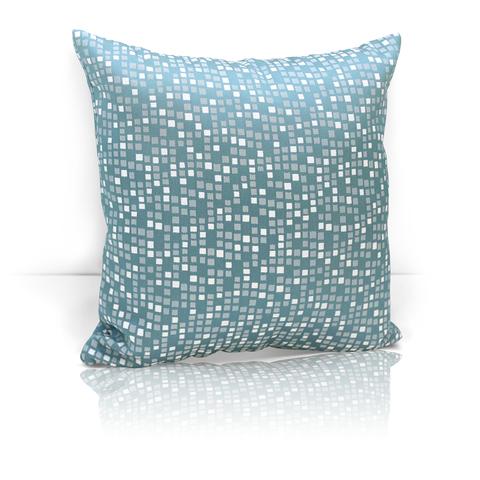 Подушка декоративная из двустороннего жаккарда Домино бирюзовый