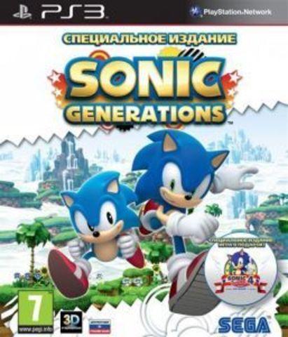 Sonic Generations (PS3, с поддержкой 3D, английская версия)