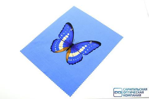Салфетка для протирания очков из микрофибры в индивидуальной упаковке с рисунком С19