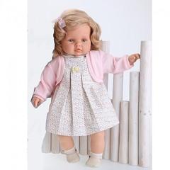 JUAN ANTONIO munecas Кукла Долорес, платье в цветочек, озвученная, 50 см (1027F)