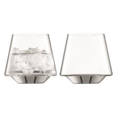 Набор из 2 стаканов Space, 430 мл, платина, фото 1