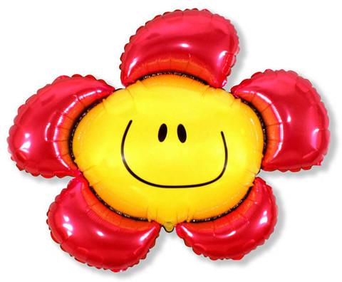 Фольгированный шар Цветочек красный