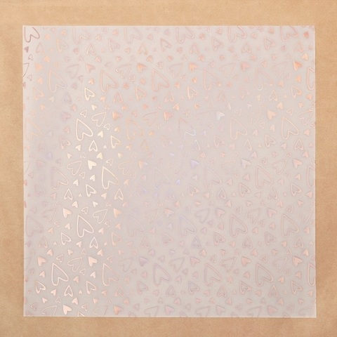 Калька для скрапбукинга с фольгированием «Любовь» , 30,5 х 30,5 см