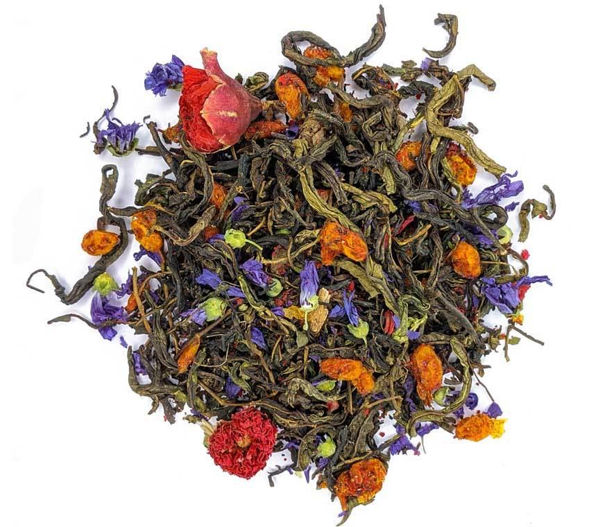 """Травяной эко чай Травяной эко чай с ягодами облепихи """"Вдохновение"""", фитосбор 100 гр Chay-vdohnovenie-teastar1.jpg"""