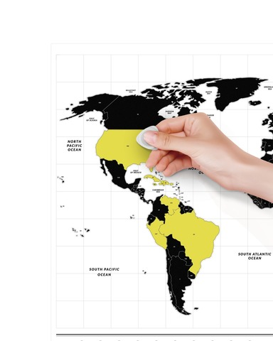 Светящаяся Cкретч Карта Мира Travel Map® Glow World