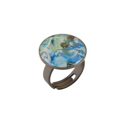 Кольцо «Голубые танцовщицы» K78281-BAIL