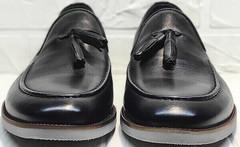 Мужские туфли лоферы с кисточками Luciano Bellini 91178-E-212 Black.