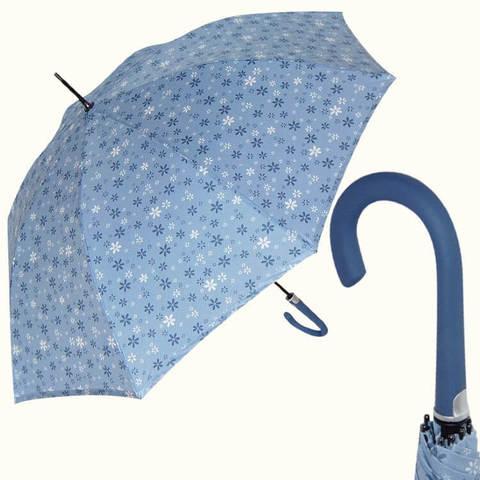 Купить перламутровый голубой женский зонт-трость, Италия