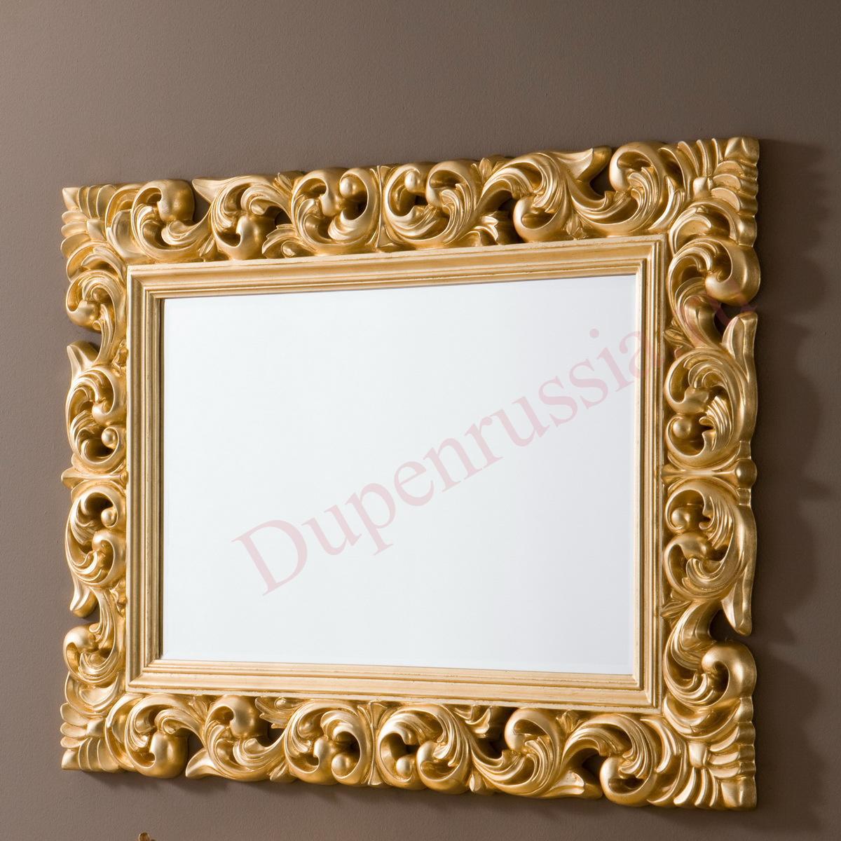 Зеркало DUPEN PU049 золото (90*120)