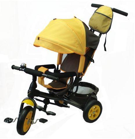 Велосипед детский с надувными колёсами (жёлтый)