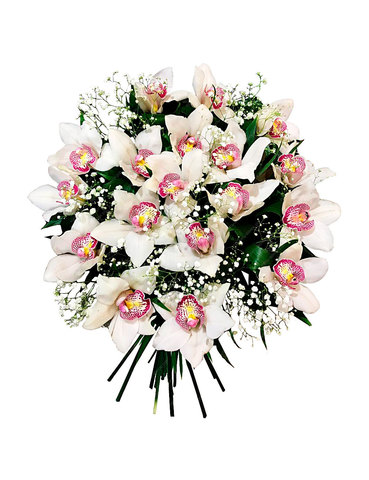 Траурный букет из живых цветов