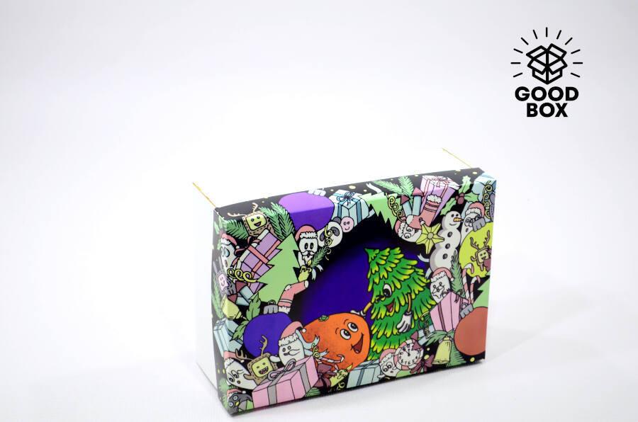 Современная Новогодняя коробка купить в Казахстане