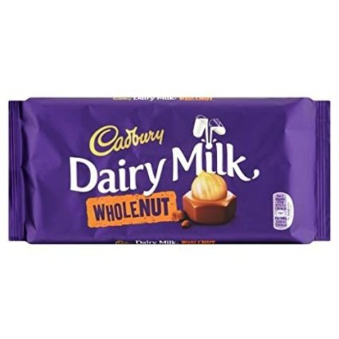 Шоколад Cadbury Dairy Milk Whole Nut 200 гр
