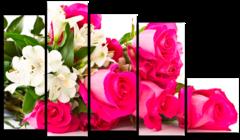 """Модульная картина """"Розовые розы"""""""
