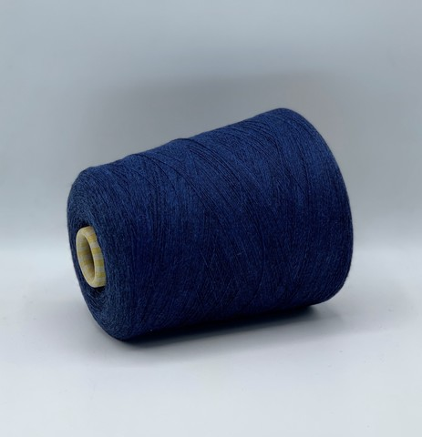 Бобинная пряжа STOK (пр.Италия), 1500м/100гр, 100% шерсть, цвет- Синий меланж, арт.5533