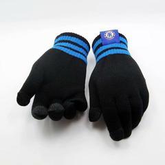 Перчатки с логотипом ФК Челси (Chelsea) черные