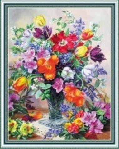 Алмазная Мозаика 40x50 Яркий летний букет полевых цветов (арт. WXSA2592)