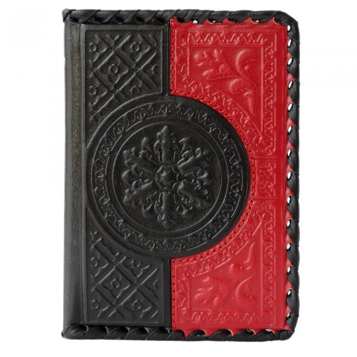 Обложка на паспорт «Венеция». Цвет черно-красный