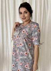 Ліна. Літнє плаття великих розмірів. Сірий