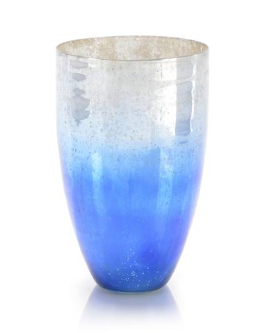 Starry Blue Glass Vase
