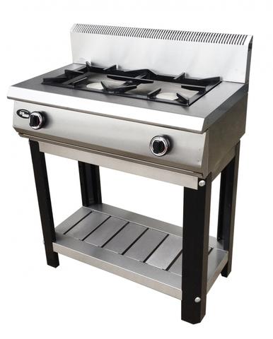 Плита газовая Grill Master Ф2ЖТЛПГ (на подставке), 800х500х1050,  2 горелок 2-я корона