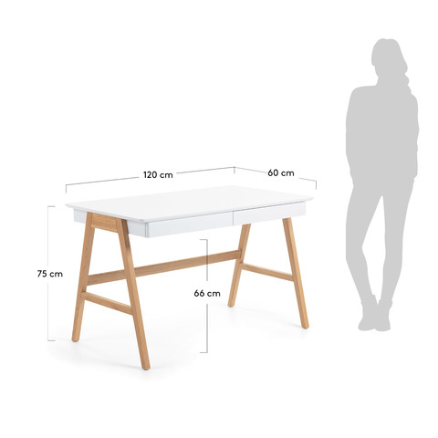 Стол письменный Ingo 120x70 белый