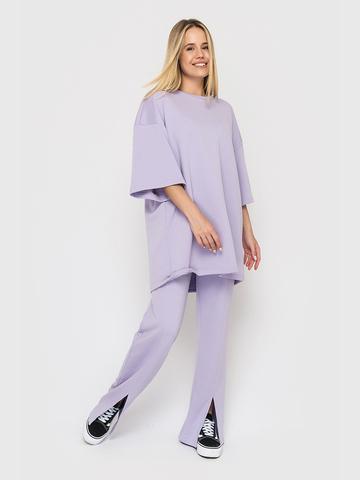 Костюм (брюки и футболка) лиловый YOS