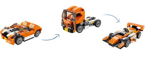 LEGO Creator: Гоночная машина Сансет 31017 — Sunset Speeders — Лего Креатор Создатель