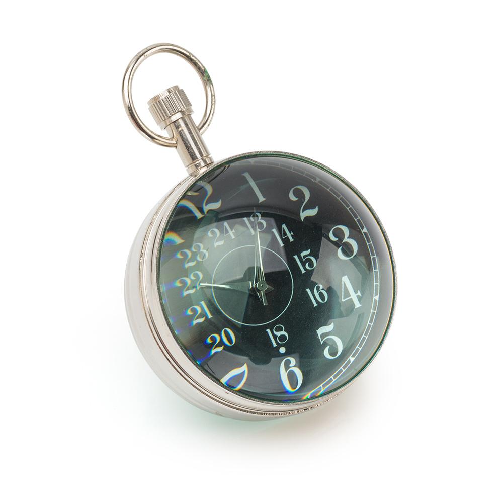 Часы-шар с компасом в деревяной коробке