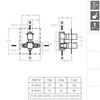 Встраиваемый термостатический смеситель для душа KUATRO 478712S на 2 выхода - фото №2
