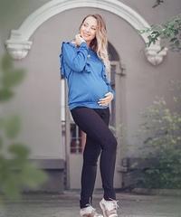 Лонгслив для беременных и кормящих цвет ультрамарин