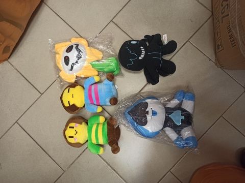 Набор мягких игрушек Undertale 5 шт 25 см