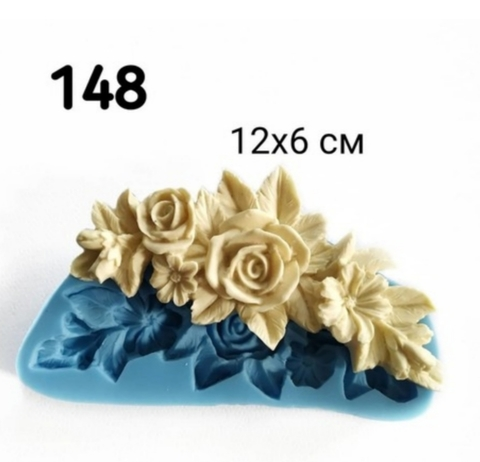 Молд Розовая гирлянда 12х6см, Арт.PO-0148, силикон