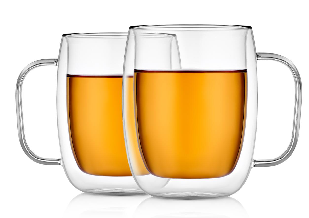 Кружки (двойная кружка) Прозрачные стеклянные кружки с двойными стенками, 350 мл B2-026-350.PNG