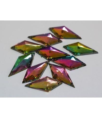 131 стразы ромбы разноцветные 10 шт