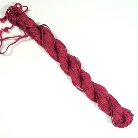 Шнур для плетения (нейлон) 1.0 мм бордовый