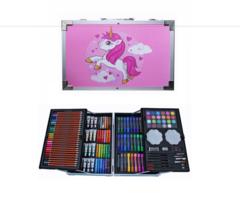 Чемоданчик для рисования с единорогом розовый 145 предметов