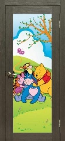 Дверь La Stella 212, интерьерная печать, цвет ясень грей, остекленная
