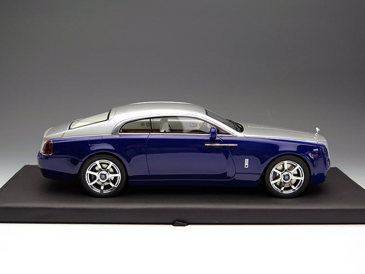 Коллекционная модель Rolls-Royce Wraith 2015 Dark Blue Metallic/Silver