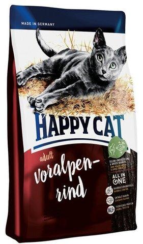 купить Happy Cat Adult Voralpen-rind сухой корм для взрослых кошек с альпийской говядиной