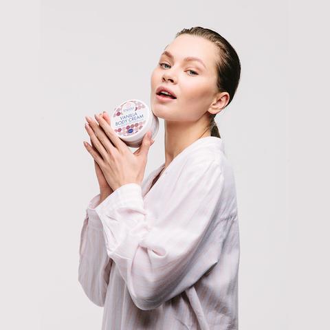 Ванильный крем для тела с миндальным маслом и провитамином В5