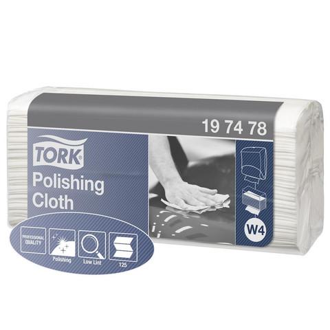 Нетканый протирочный материал Tork 197478 W4 белый (125 листов в упаковке)