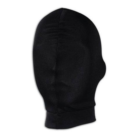 Черная глухая маска на голову
