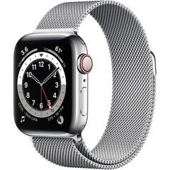 Умные часы Apple Watch Series 6 GPS + Cellular 40мм Stainless Steel Case with Milanese Loop (Серебристый) (M02V3,M06U3)