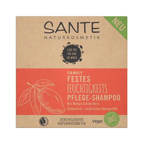 SANTE FAMILY, Увлажняющий и питательный (твердый) шампунь с био-манго и алое, 60гр